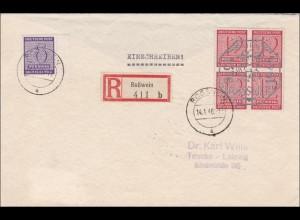 SBZ: Einschreiben aus Roßwein nach Taucha 1946