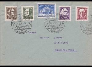SBZ: Steinachtal - Sonderstempel nach Hämmern 1946 - Holzspielwaren