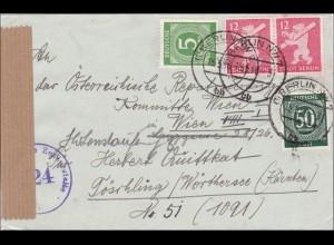 SBZ: Brief aus Berlin nach Töschling/Wörthersee - Zensur 1946