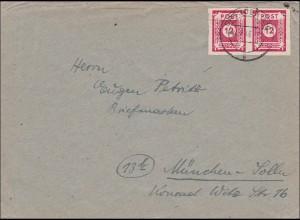 SBZ: Brief aus Dresden nach München 1946