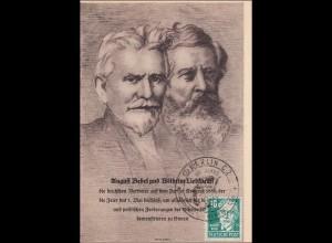SBZ: Maximumkarte August Bebel mit Sonderstempel Berlin