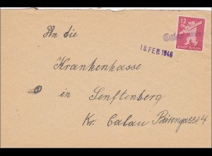 SBZ: Brief 1946 von Galau nach Senftenberg