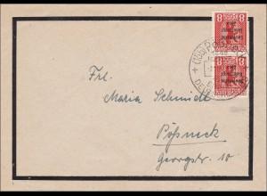 SBZ: Brief von Pößneck 1948 mit Sonderstempel