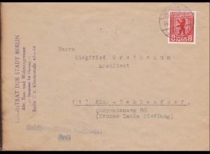 SBZ: Brief von Berlin nach Zehlendorf - violette Marke 1946