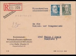Ammendorf nach Halle - Behördenpost - Schloß und Domgemeinde, Nachbarort