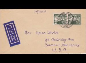 SBZ: Brief aus Leipzig nach USA 1948 - Luftpost