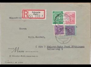 SBZ: Brief aus Schwerin nach Welper-Ruhr-Post Hattingen 1946