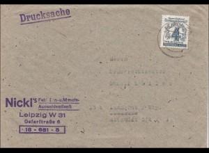 SBZ: Drucksache Brief aus Leipzig 1946, MiNr. 139y