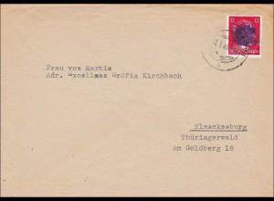 SBZ: Brief aus Mitweida nach Blanckenburg - Gräfin Kirchbach 1945