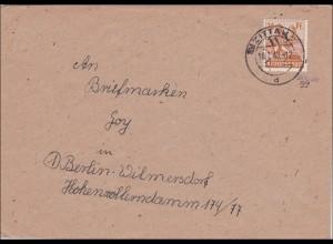 SBZ: Brief aus Zittau nach Berlin-Wilmersdorf 1949 - Handstempel