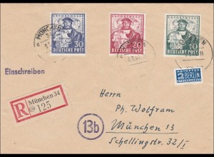 Einschreiben aus München 1949