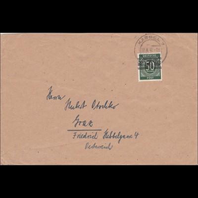BiZone: PBrief aus Kassel 1948 nach Graz