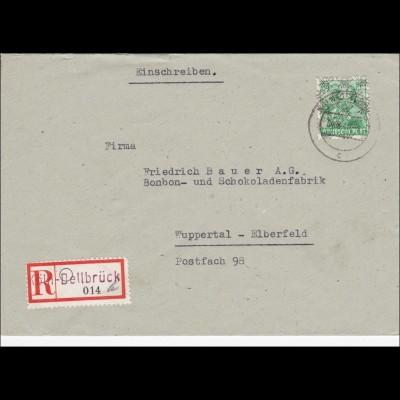BiZone: Einschreiben Köln-Dellbrück nach Wuppertal-Elberfeld 1948