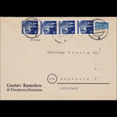 BiZone: Brief von Elmshorn nach Augsburg