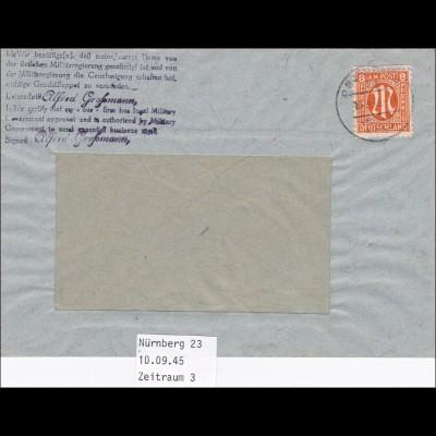 BiZone: Brief von Nürnberg 1945, Bestätigung