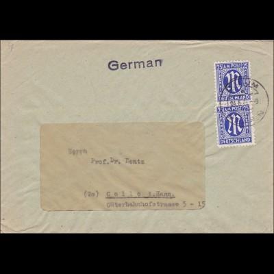 BiZone: Brief aus Dalum/Lingen nach Celle 1946