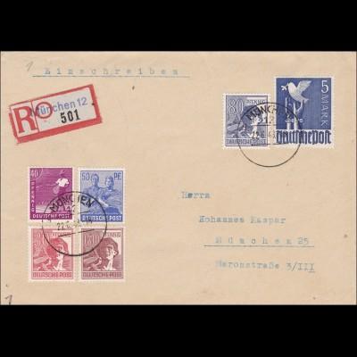 BiZone: 1949 Einschreiben aus München