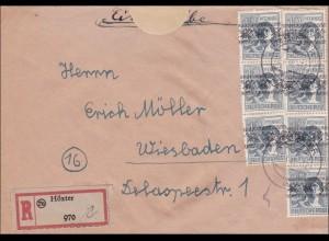 BiZone: Einschreiben aus Höxter nach Wiesbaden 1948