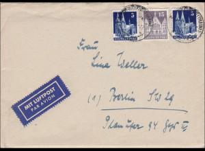 BiZone: Luftpost Brief aus Frankfurt/Main nach Berlin mit Inhalt