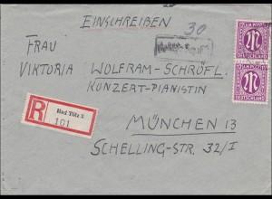 BiZone: Einschreiben von Bad Tölz nach München 1945