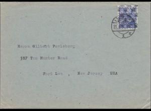 BiZone: Brief aus Lübeck nach USA 1948, MiNr. 48II
