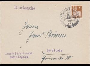 BiZone: Drucksache Brief von Hirschegg nach Stade - Kleinwalsertal !!! 1950