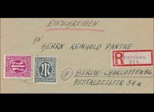 BiZone: Einschreiben von Iggenhausen/Sylbach-Lippe 1946 nach Berlin