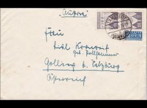 BiZone: Brief von Lamstedt nach Golling 1949