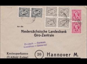 BiZone: Brief von Alfeld/Leine nach Hannover 1946