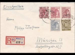 BiZone: Einschreiben von München 1949