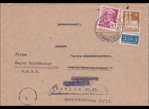 BiZone: Brief von Schlageten/Immeneich nach Berlin 1949