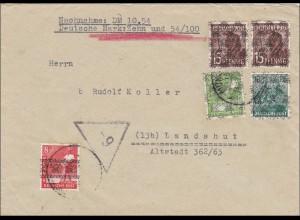 BiZone: Nachnahme Brief von München nach Landshut