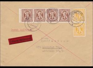 BiZone: Eilbotenbrief von Aschaffenburg nach Landshut 1946