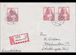 Einschreiben von München 1957