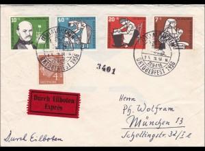 Eilboten Brief vom Münchner Oktoberfest 1956 mit Sonderstempel