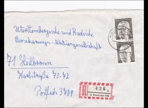 Einschreiben aus Hannover nach Heilbronn 1976