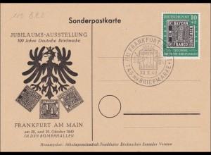 Sonderpostkarte Frankfurt/M 1949 - Tag der Briefmarke