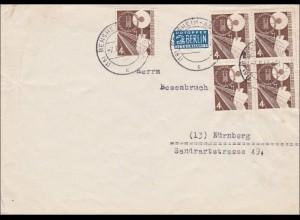 Brief aus Bensheim nach Nürnberg 1952