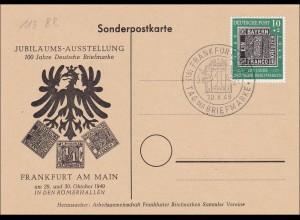 Sonderpostkarte 1949 - Tag der Briefmarke Frankfurt Main
