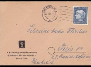 Brief aus Stuttgart 1955 nach Paris