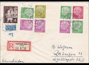 Einschreiben Ingoldstadt nach München 1955