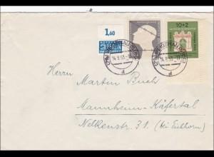Brief aus Weidenau nach Mannheim Käfertal 1953, Eckrand