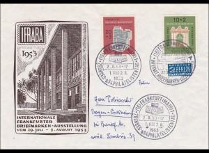 Brief von der IFRABA 1953 Frankfurt/Main nach Bergen-Enkheim