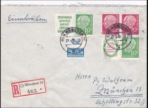 Einschreiben aus München 1955, Heuss
