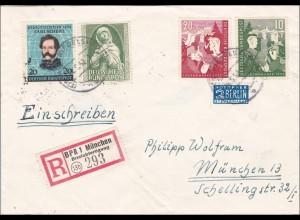 Einschreiben Briefabfertigung BPA München 1952
