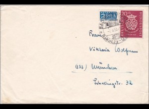 Brief aus Bad Kissingen mit Sonderstempel 1950