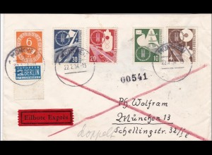 Eilboten Brief von München 1954