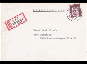Einschreiben Ebermannstadt nach Nürnberg - Einzelfrankatur 190