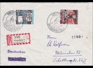 Einschreiben München - Sonderpostamt - Sonderstempel Oktoberfest 1957