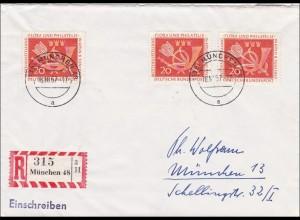 Einschreiben aus München 16.10.1957, MeF